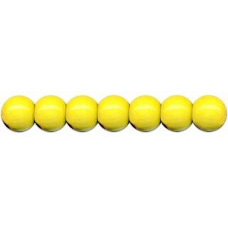 Holzperlen D: 12 mm gelb 35 Stück mit Lochbohrung