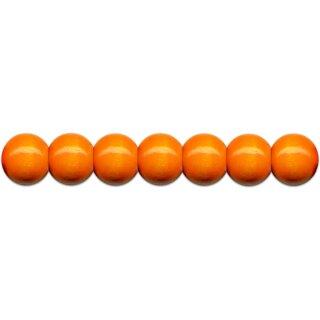 Holzperlen D: 12 mm orange 35 St. mit Lochbohrung