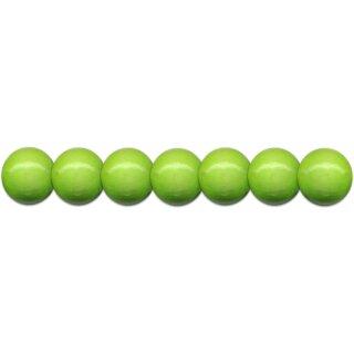 Holzperlen D: 12 mm hellgrün 35 St. m. Lochbohrung