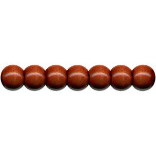 Holzperlen D: 12 mm braun 35 Stück mit Lochbohrung