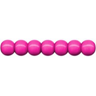 Holzperlen D: 12 mm pink 35 Stück mit Lochbohrung