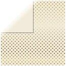Scrapbookingpapier  Gold Foil Dots