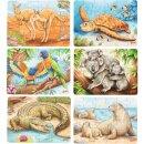 Minipuzzle Australische Tiere, 1 Stück verschieden...