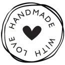 Stempel Handmade with love, 3cm ø