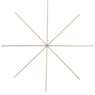 Drahtstern aus Metall 5 Stück, D: 15 cm,