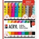 Acrylfarben Set Effect von Marabu, 18x 36 ml