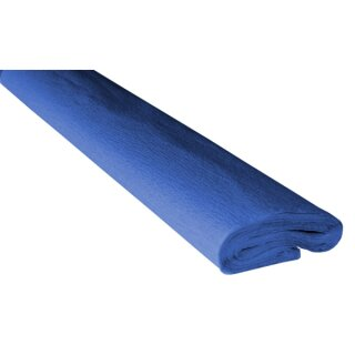 Krepppapier/Feinkrepp blau 10 Rollen, 50 x 250 cm