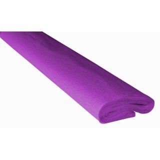 Krepppapier/Feinkrepp violett 10 Rollen, 50 x 250 cm