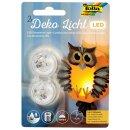 LED Dekolicht, 2 Stück, 3 x 2,2 cm
