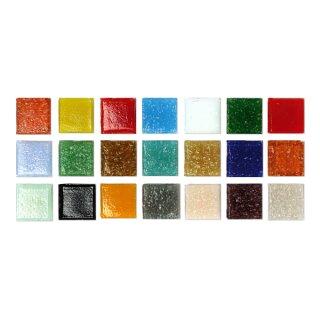 Artdecor Mosaiksteine bunt gemischt, 10 x 10 mm, Eimer á 1kg=ca.1300 St.