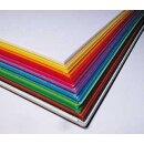 Tonzeichenpapier, 250 Blatt in 25 Farben sortiert, DIN A3