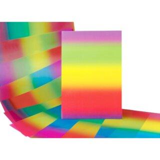 Regenbogen Transparentpapier, 10 Bogen, 34 x 51 cm