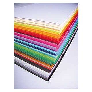 Fotokarton, 50 x 70 cm, 100 Bogen in 50 Farben sort.