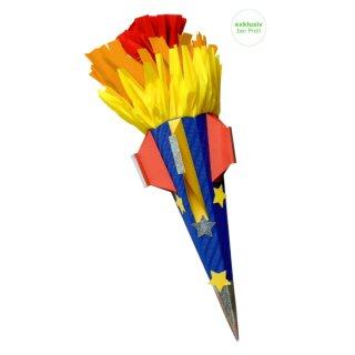 Schultüte Bastelset Rakete inkl. Schulstarterpaket GRATIS