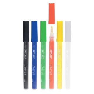 Acrylstifte Standard, 6 Stück verschieden sortiert