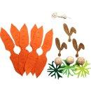 Bastelset Karottenhase aus Filz und Holz, 3 Stück