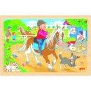 Einlegepuzzle Ponyhof, 30 x 20 x 0,8 cm