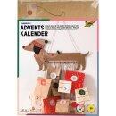 Papiertüten Adventskalender Set Sausage Dog, 54-teilig