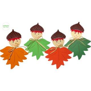 Bastelset Blättermännchen vorgedruckt, 8 Stück