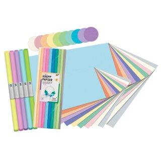 Papierset Pastell