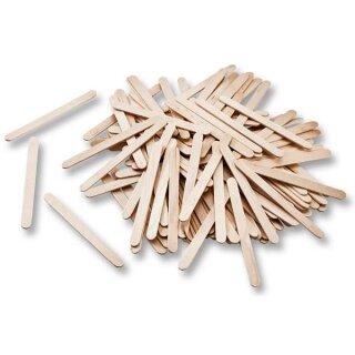 Bastelhölzer aus Holz, flach 114 x 10 x 2 mm, 500 Stück, natur
