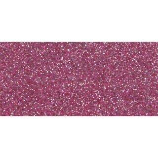 Moosgummi Glitter, 2 mm stark, 30 x 45 cm, pink, 1 Platte