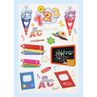 "CreaPop® Sticker ""Schule"" Bogengröße ca. 18 x 12,5 cm, Motive ca. 2 - 7 cm"