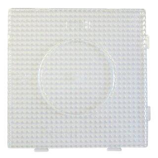 Stiftplatte Quadrat transparent 15 x 15 cm, für HAMA® MIDI Bügelperlen 5 mm