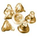 Glocken, D: 28 mm, H: 22 mm 50 Stück, vermessingt