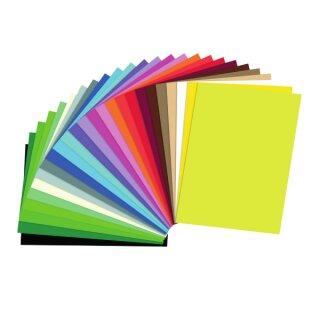 Tonkarton 50 x 70 cm 25 Bogen in 25 Farben sortiert 220 g/qm