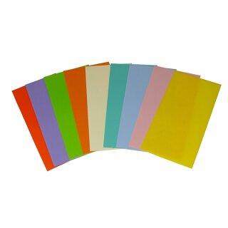 Pastell Verzierwachsplatte 10 x 20cm 10 Platten farbig sort.