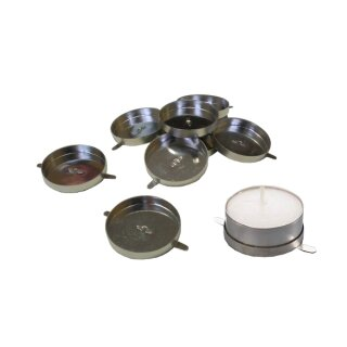 Teelichthalter, 50 Stück, D: 40 mm