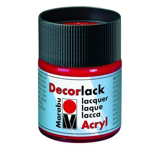 Decorlack 50 ml, karminrot
