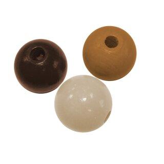 Holzperlen braun/mix, 85 Stück D: 8 mm