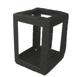 Laterne 3D Wellpappe schwarz 13,5 x 13,5 cm