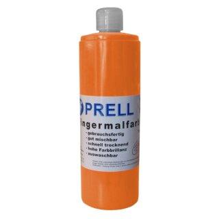 Fingermalfarbe orange, 750 ml von Prell