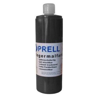 Fingermalfarbe schwarz,750 ml von Prell