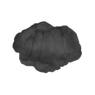 Märchenwolle / Filzwolle schwarz, 50 g