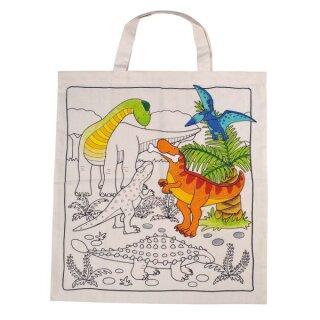 """Baumwolltasche """"Dinosaurier"""" 38 x 48 cm, natur"""