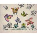 """Baumwolltasche """"Schmetterling"""" 38 x 42 cm, natur"""