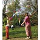 Schwungband Regenbogen 4 cm breit, ca. 200 cm lang 3er Set,