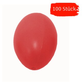 Plastik-Eier, Kunststoffeier, Ostereier,  rot 60 mm, 100 Stück