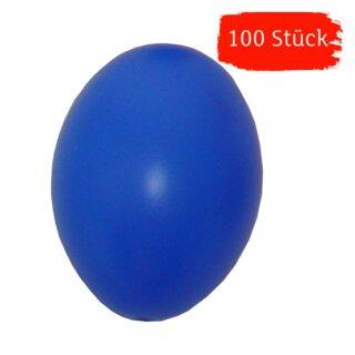 Plastik-Eier, Kunststoffeier, Ostereier,  blau 60 mm, 100 Stück