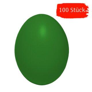 Plastik-Eier, Kunststoffeier, Ostereier, grün 60 mm, 100 Stück für diese Saison ausverkauft