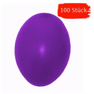 Plastik-Eier, Kunststoffeier, Ostereier,  lila 60 mm, 100 Stück