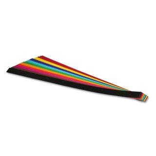 Flechtstreifen 1 cm x 50 cm, 200 Streifen in 10 Farben