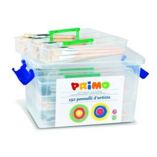 Schulbox mit 192 Pinseln