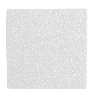 Moosgummi Glitter weiß 20 x 30 cm, 1 Platte 2 mm stark