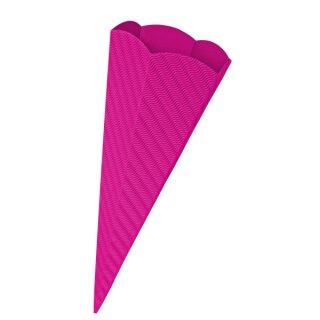 Schultütenrohling aus 3D Wellpappe pink, h: 68 cm