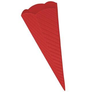 Schultütenrohling aus 3D Wellpappe rot, h: 68 cm